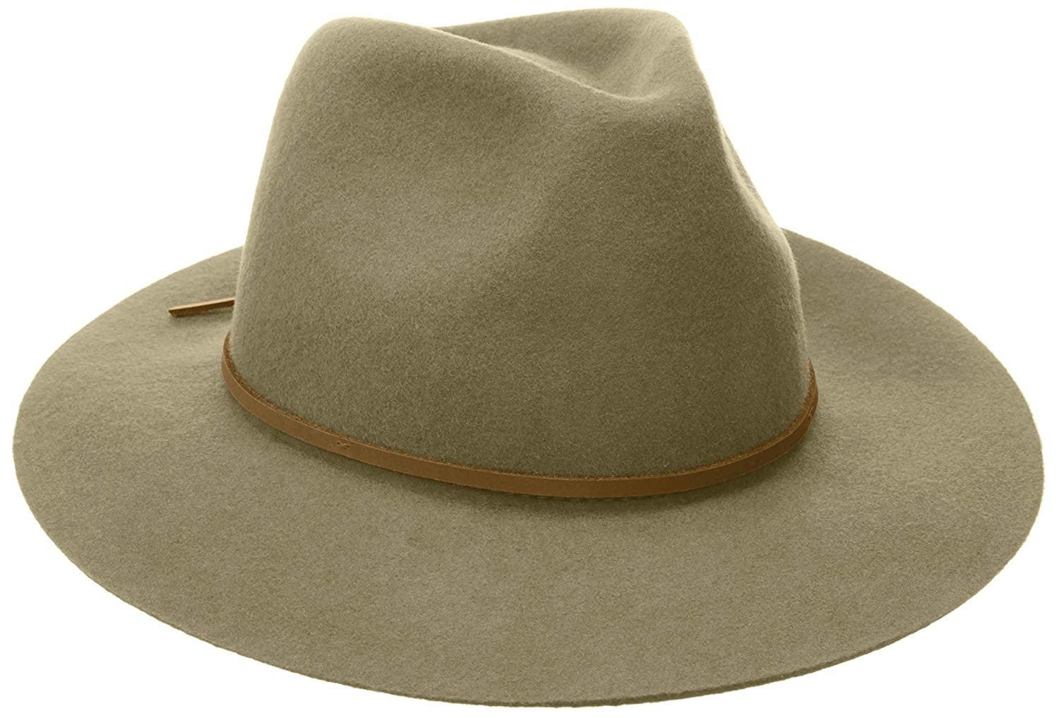 5d187f00 Brixton Men's Wesley Medium Brim Felt Fedora Hat: Amazon.com.au: Fashion