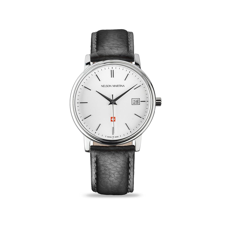 * Neu | Nelson Martina Classic Silver 310 | Saphirglas | Swiss Made