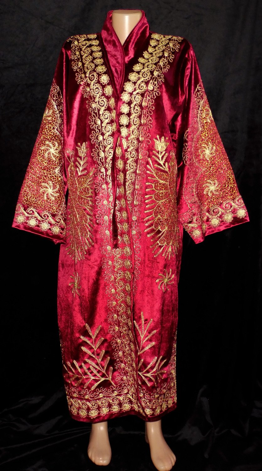 TRADITIONAL BUKHARA OUTWEAR COSTUME ROBE JACKET SILK GOLD EMBROIDERED A11724