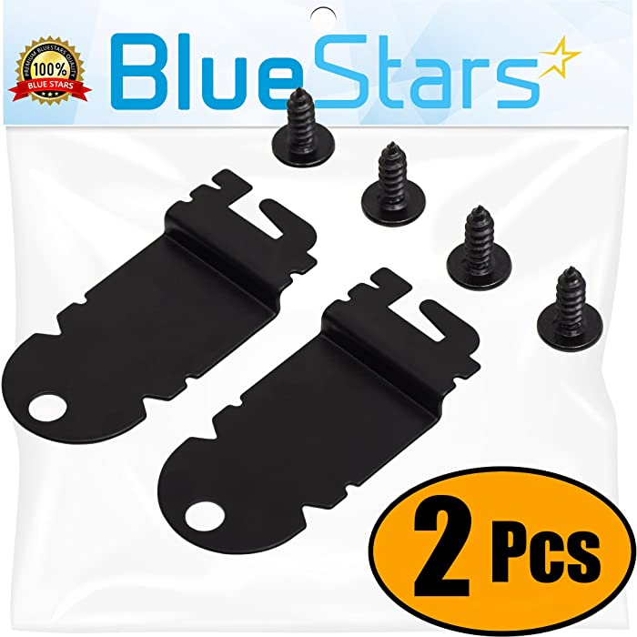 Ultra Durable 8212560 Dishwasher Side Mounting Bracket Replacement Kit by Blue Stars – Exact Fit For Whirlpool & Kenmore Dishwashers – Replaces 1201084 AP3953705 - PACK OF 2