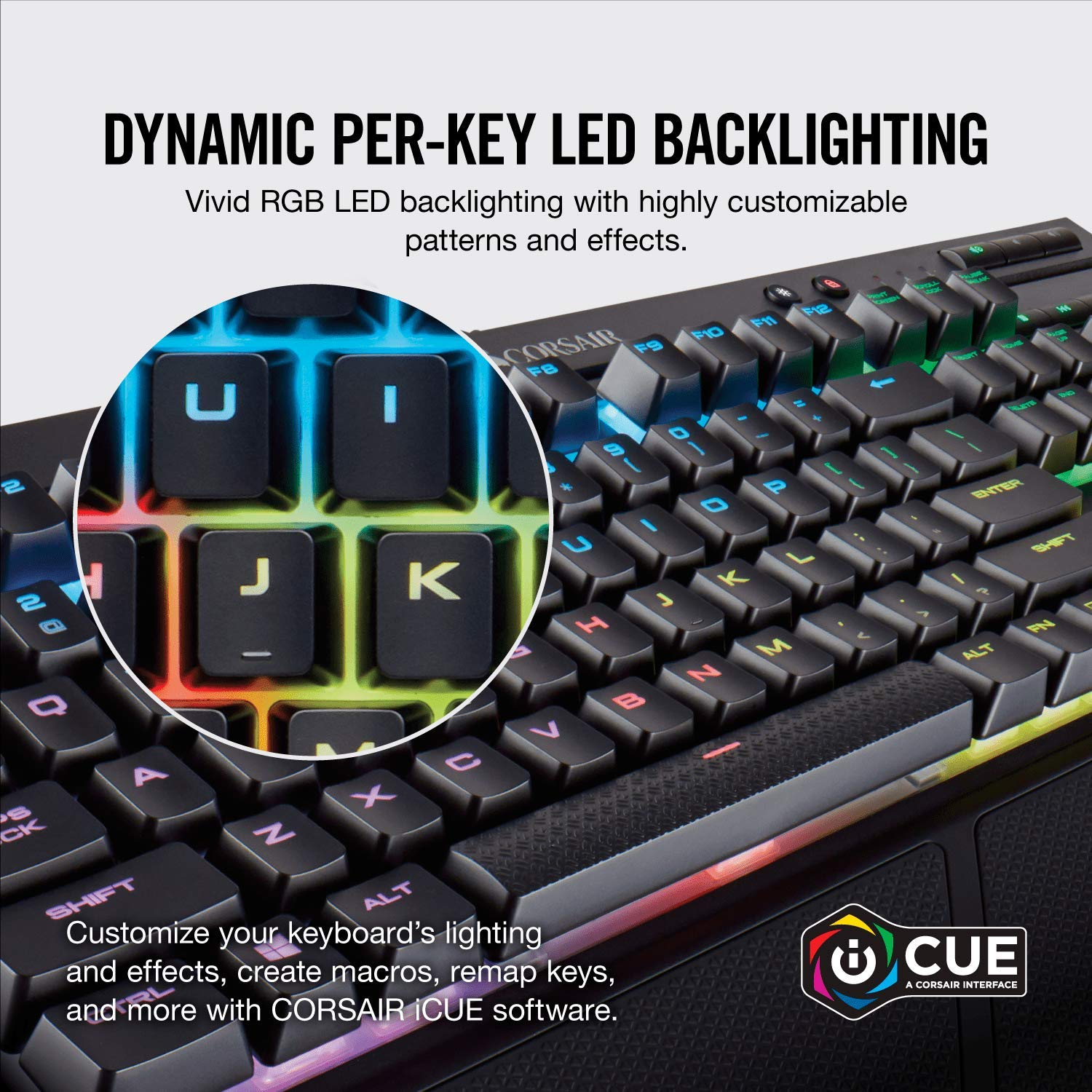 Corsair K68 RGB Mechanical Gaming Keyboard (Cherry MX Red Switches: Linear  and Fast, Per Key Multi-Colour RGB Backlighting, IP32 Dust and Spill