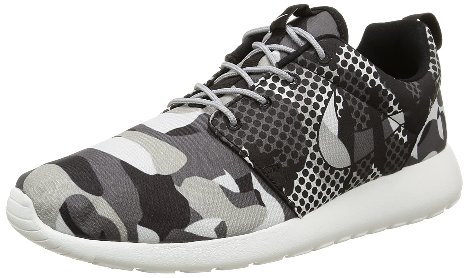 305a9caa73c4f Nike Mens Roshe One Print Summit White Dark Grey Wolf Grey Black 655206-100  9. 5  Buy Online at Low Prices in India - Amazon.in