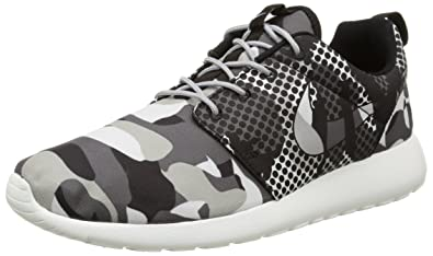 brand new 47cc6 56915 NIKE Mens Roshe One Print Summit White/Dark Grey/Wolf Grey/Black 655206-100  13