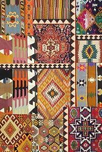 Vilber Bohemian Kilim 2495- Tappeto in Vinile, 75x 120x 3cm