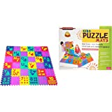 Samaira Sunshine Kids Puzzle Mats English Alphabets A -Z and Numbers 1 to 10 (Multicolour, 36 Tiles of 1 cm Thickness, Size: 102 x 102)