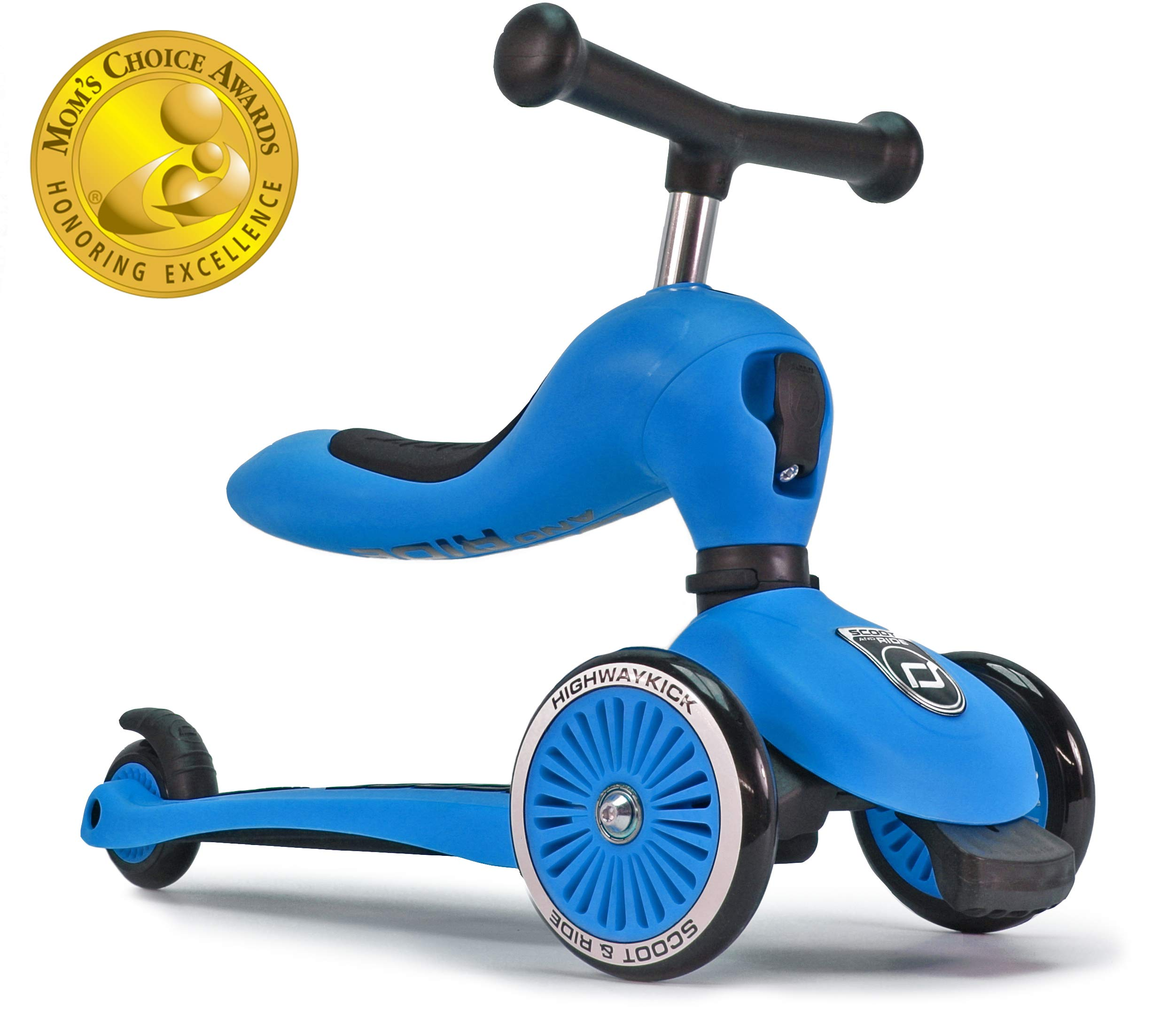 Scoot and Ride 2-in-1 Bike and Kick Scooter Combo for Children Ages 1-5 Years Old (Blue)