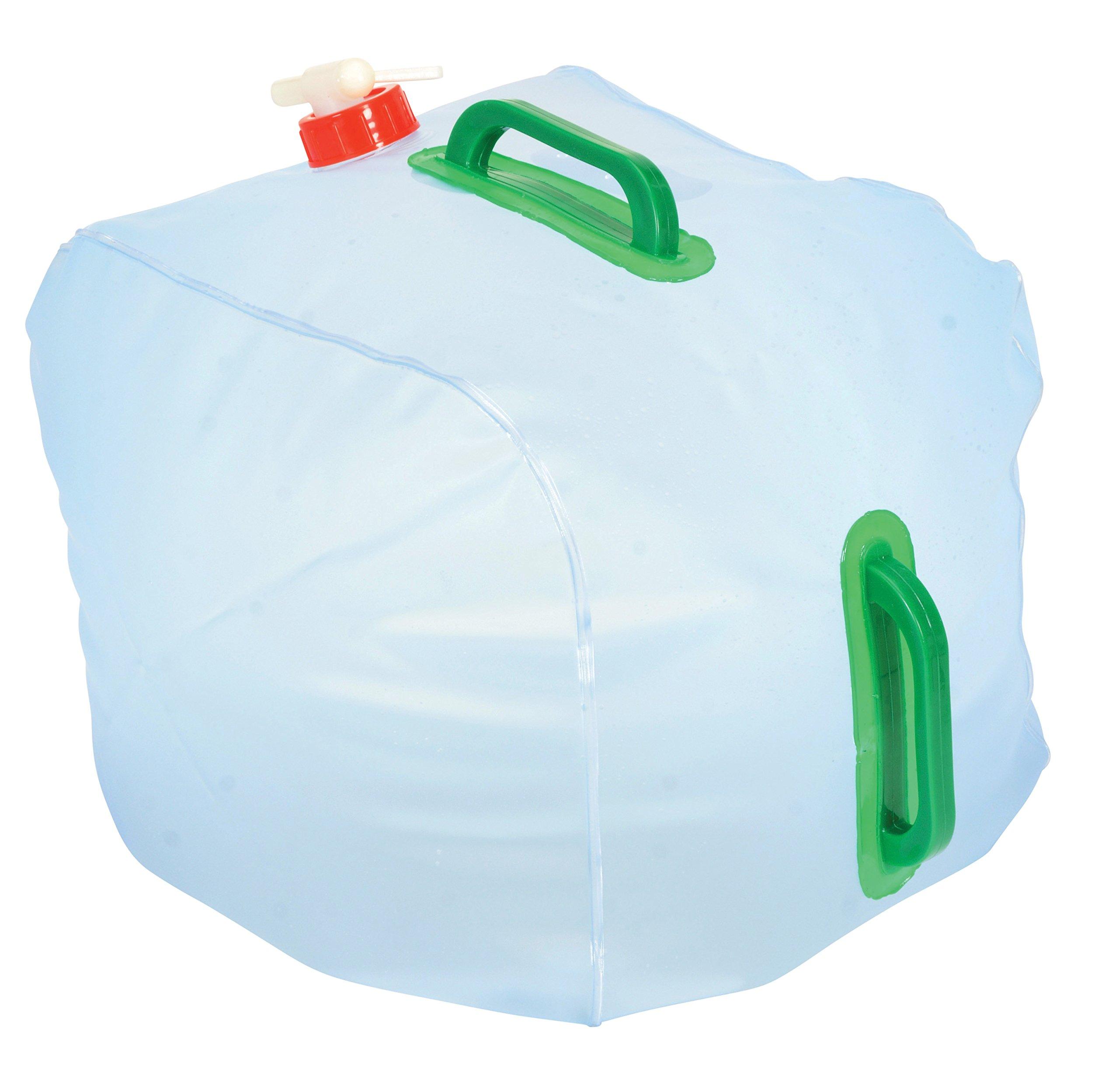 Vestil CARB-COL-50 High Density Polyethylene (HDPE) Round Collapsible Carboy with 3/4'' Polyethylene Spigot, 5 Gallon Capacity, Natural