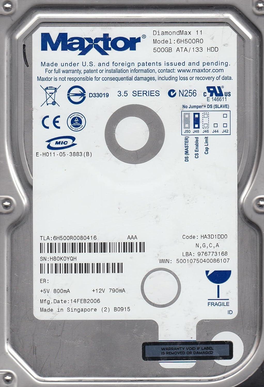 NGCA Maxtor 500GB IDE 3.5 Hard Drive Code HA3D1DD0 6H500R0