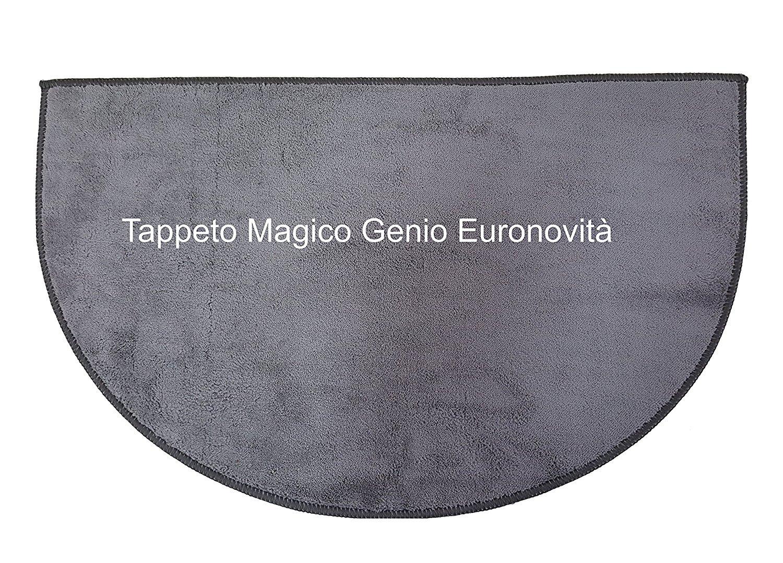 Euronovità Genio Tappeto per Ingresso Antiscivolo, Microfibra, Grigio, 74x45x2 cm EN-21237