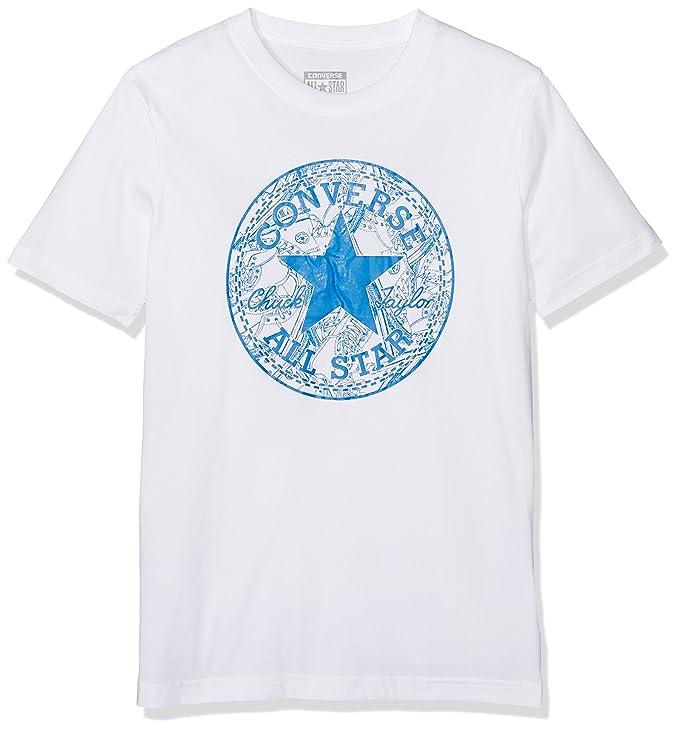 e4e38f5cf247 Converse Boy s Seasonal Chuck Fill Tee T-Shirt  Converse  Amazon.co.uk   Clothing