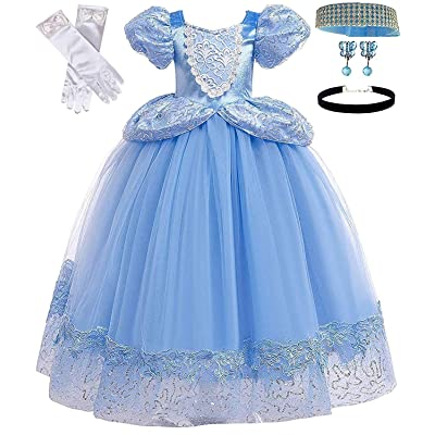 Romy's Collection Princess Blue Cinderella Costume Party Dress-up Set: Clothing