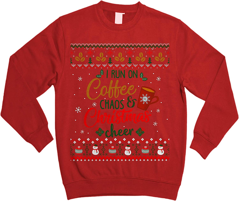 I Run on Coffee Chaos and Christmas Cheer Ugly Sweater Sweatshirt