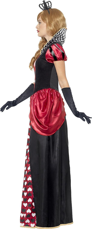 Rouge Smiffys Costume reine rouge royale avec robe et couronne