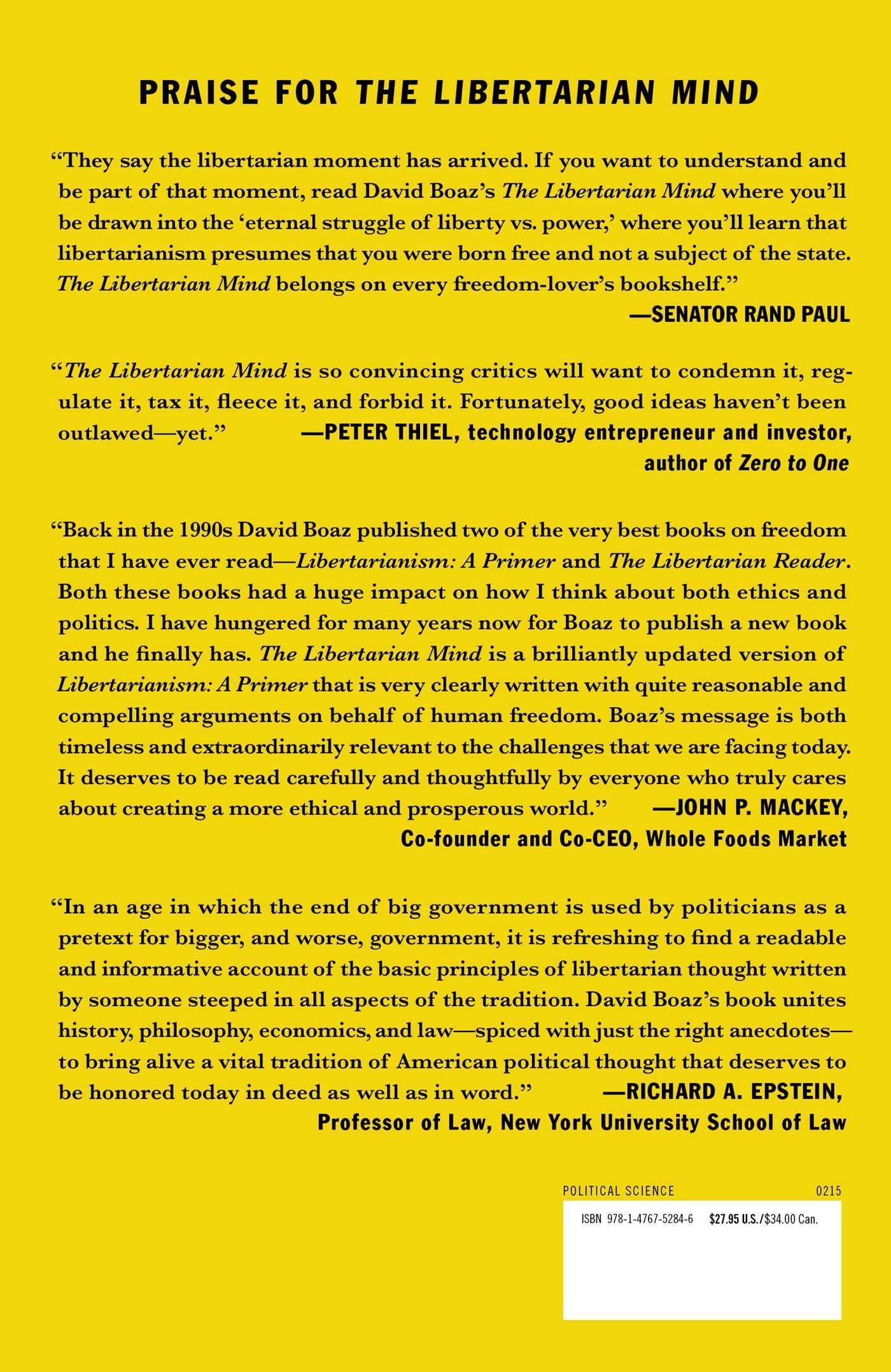 Amazon: The Libertarian Mind: A Manifesto For Freedom (9781476752846):  David Boaz: Books