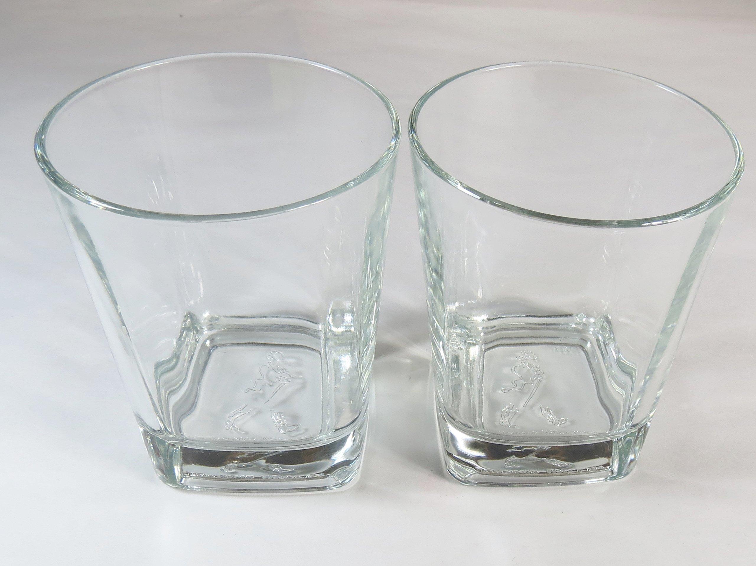 Johnnie Walker Black Label Collectable Logo Base Glasses - Set of 2