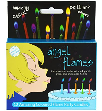 Amazon Angelflames Birthday Candles With Cold Color Flames For
