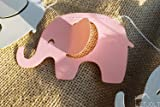 Pink Elephant Garland Baby Shower Decorations