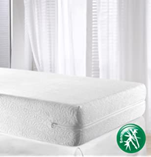 mattress 135 x 190. velfont bamboo high quality mattress encasement \u0026 protector - fully enclosed cover, double size ( 135 x 190