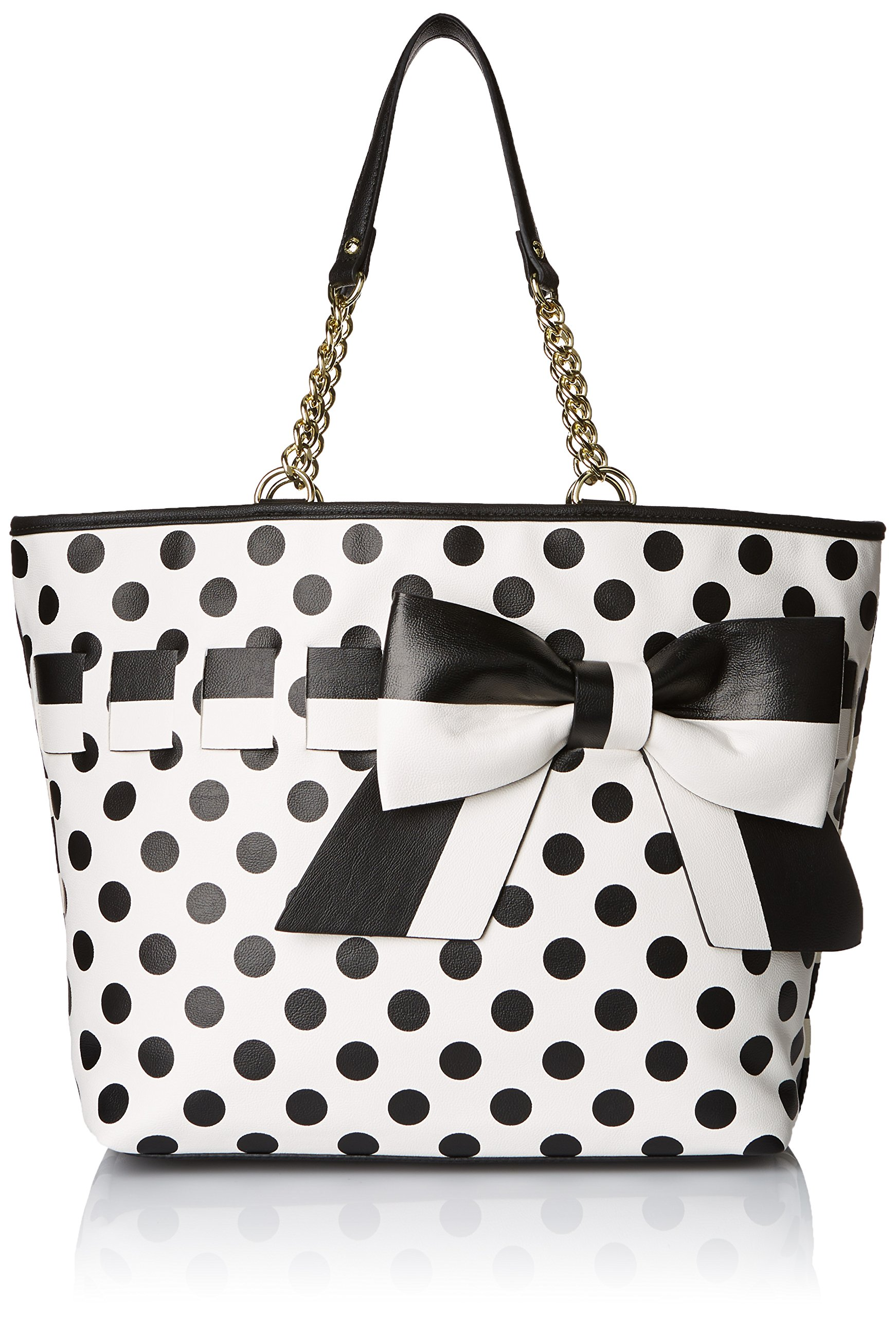 Betsey Johnson Gift Me Baby Tote Shoulder Bag, Cream, One Size