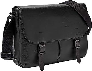 cb380d9b33da Fossil Men s Buckner Small Commuter Black Cross Body Bag One Size