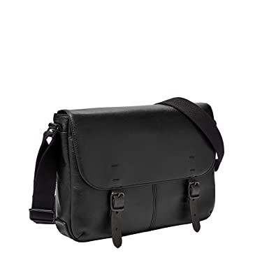 Amazon.com  Fossil Men s Buckner Small Commuter Black Cross Body Bag One  Size  Clothing 87d882aa0c484