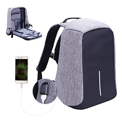 Laptop Backpack business anti-theft waterproof travel computer backpack  with USB charging port college school f7b7899888