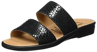 Ganter SONNICA, Weite E, Chaussures de Claquettes femme, (schwarz 0100), 40.5