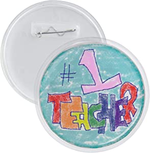 Snap-in Children's 3 Inch Round Craft Buttons - 12 Pack