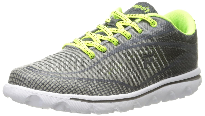 Propet Women's Billie Walking Shoe B0118BGOCM 10 B(M) US|Grey/Lime