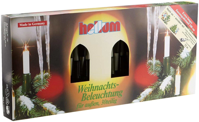 Hellum 846003 Schaftkerzenkette 30-teilig, Innen- und Außenbeleuchtung