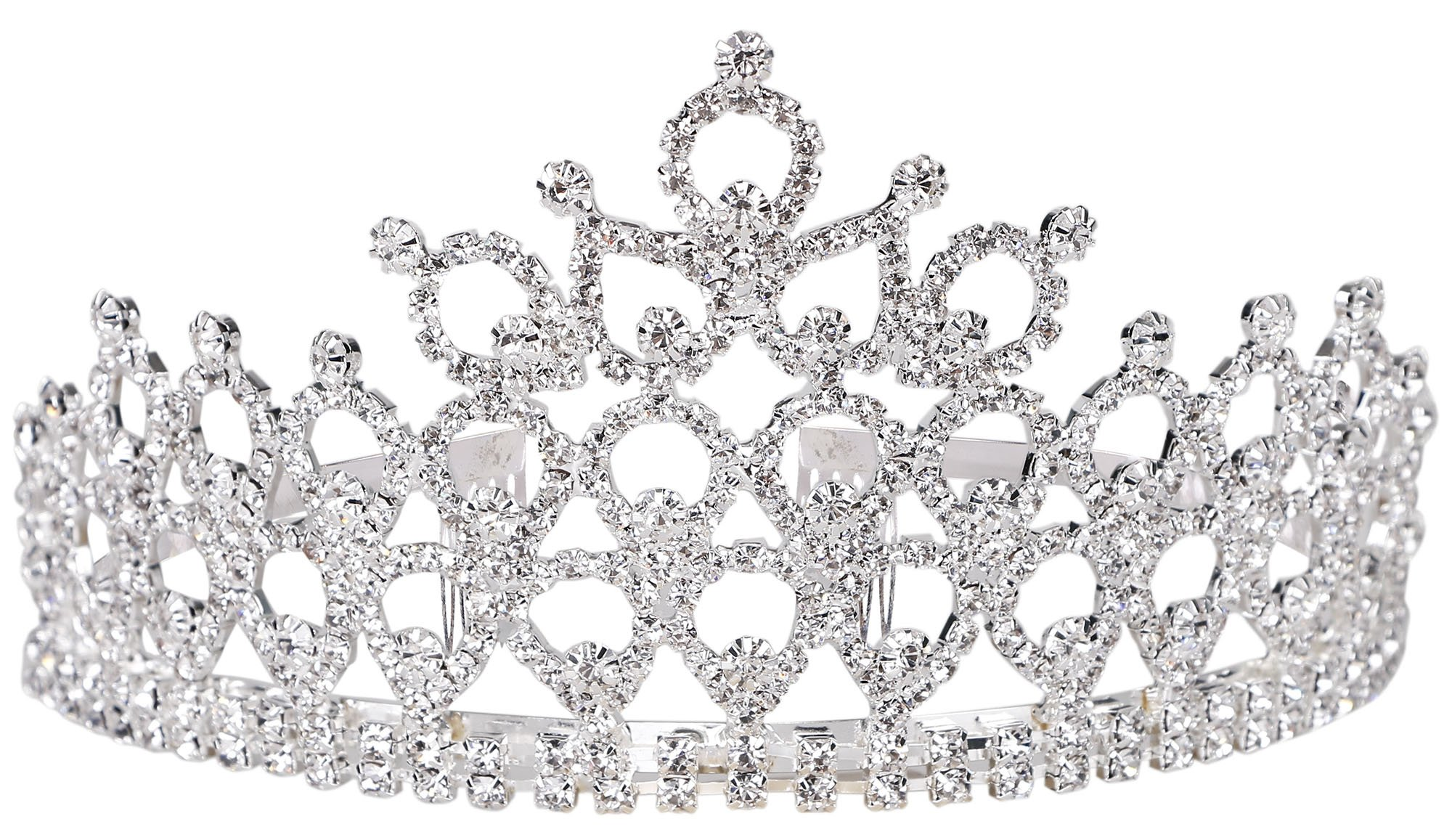 Simplicity Rhinestones Crystal Bridal Headband Pageant Wedding Crown Tiara