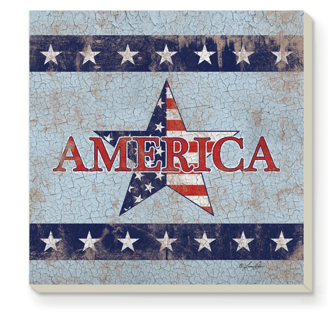 CounterArt Decorative Absorbent Coasters, America, Set of 4