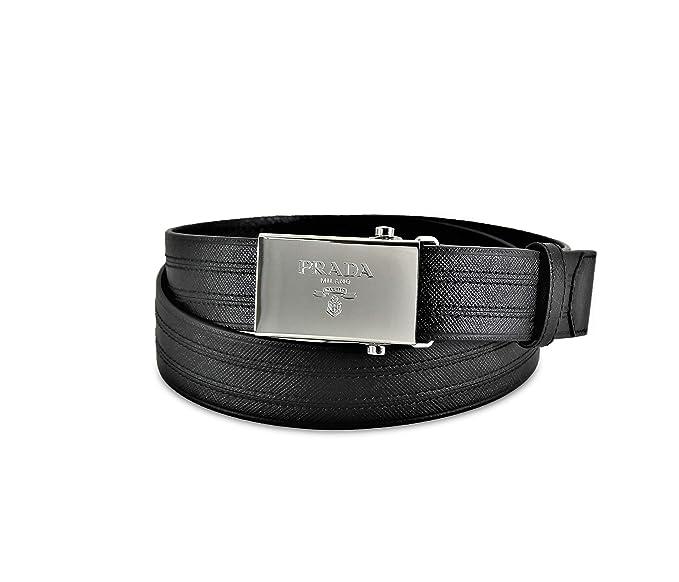 b6ff47787d Prada Saffiano 1 - Cinturón para hombre (2 cm, talla 95/38), color ...