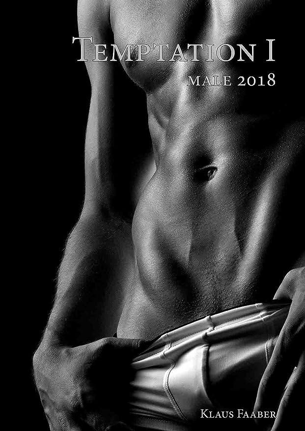 A4 Kalender 2018 - TEMPTATION 1 - Sinnliche Männer-Fotos - Erotik pur Schwarz/Weiß (Monatskalender)