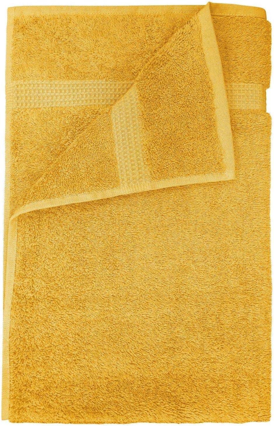 600 g//m/² 70x125cm algod/ón IHIDirect Toalla de algod/ón Egipcio Supersuave Color Mostaza Bath Towel