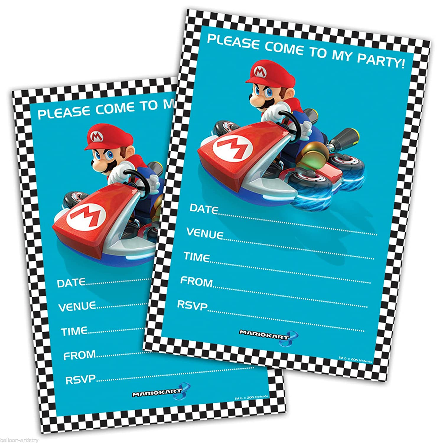 20 party invitations mario kart birthday party by nintendo 20 party invitations mario kart birthday party by nintendo amazon toys games monicamarmolfo Gallery