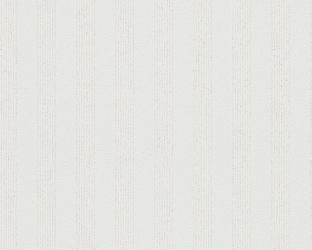 A.S Cr/éation Vliestapete mit starkem Glitterauftrag Bling Bling Tapete Streifentapete 10,05 m x 0,53 m schwarz wei/ß Made in Germany 315151 3151-51