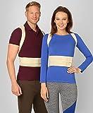 ®BeFit24 Corrector De Postura - Solución Instantánea Para La Postura Encorvada Frente Al Ordenador - Cinturón Para El Alivio Del Dolor De Espalda - El Mejor Soporte Para El Hombro - [ Size 2 - Beige ]