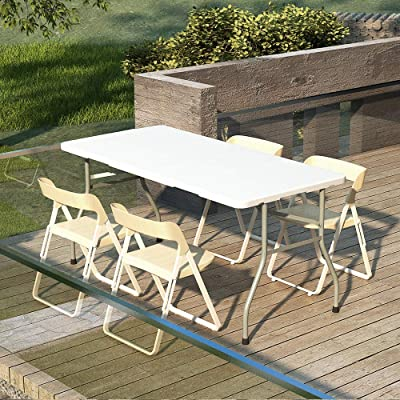 3PCS Folding Table /& Chairs Set Picnic Patio Furniture Caming Dinner Desk