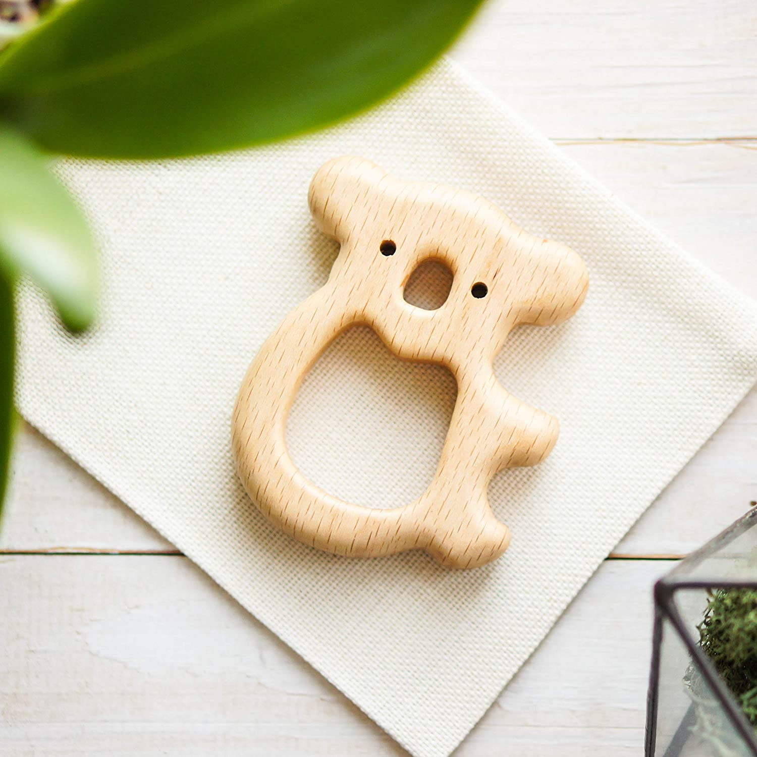 Organic Wooden Teether - Baby Shower Gift - Teether Animal Toy