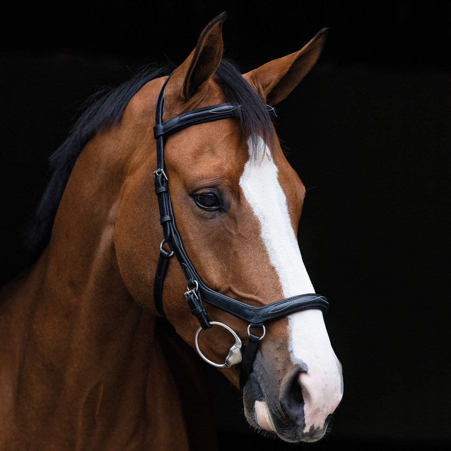Black Full Black Full Horseware Ireland Rambo Micklem Deluxe Competition English Leather Bridle SBAB6F