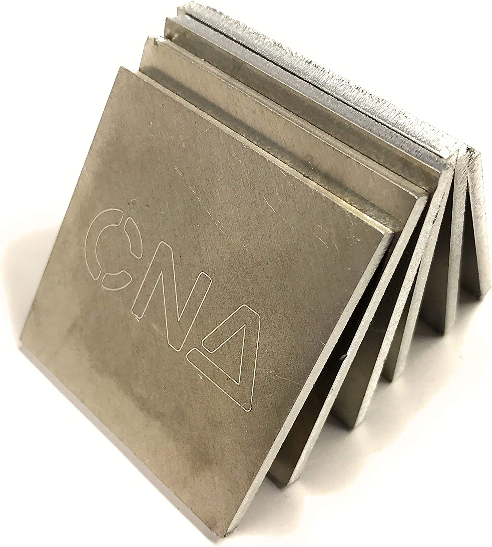 TIG Gas CNA Fabrication Stick 1//8 5052 Aluminum Cube Chapman /& Adams Practice Training DIY Beginner to Expert Contains 6 Square Coupons MIG Aluminum, 2 Arc Welding Kit 2 Inch