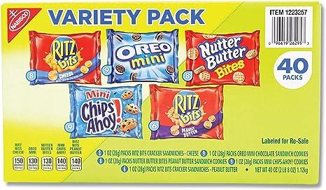 Nabisco Mini Snack Variety Pack, 40 Count: Amazon.es: Alimentación y bebidas