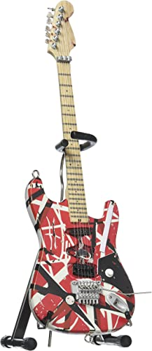 8. EVH Minature EVH001 Frankenstein Mini Replica Guitar