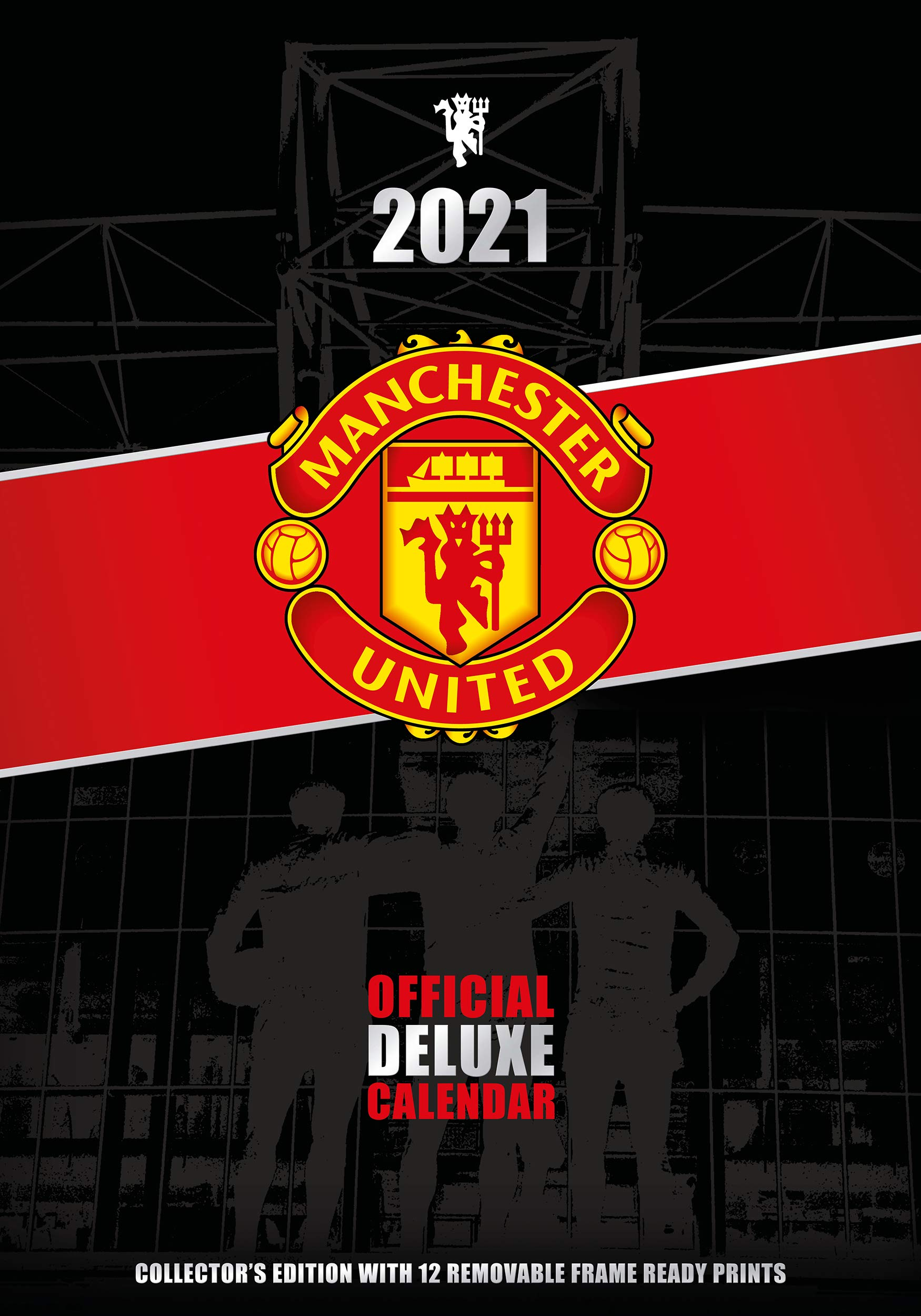 Manchester United FC 2021 Deluxe Calendar   Official Deluxe A3