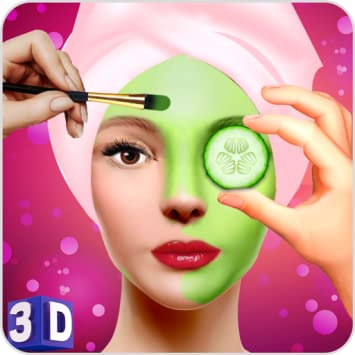 amazon com face makeup beauty spa salon makeover games 3d face
