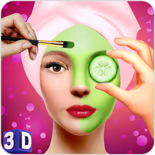 Face Makeup & Beauty Spa Salon Makeover Games 3D: face spa mask apply, spa tools makeup princess & makeover like Barbie, princess makeover salon for girly beautiful girls love spa makeup fashion & virtual beauty games, princess salon, Royal Makeover (Facial Games)