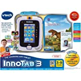 The Learning App Tablet Bundle vtech InnoTab 3 with 16 Bonus Apps Included + Folio Case, Screen Protector & Cleaning Cloth Blue