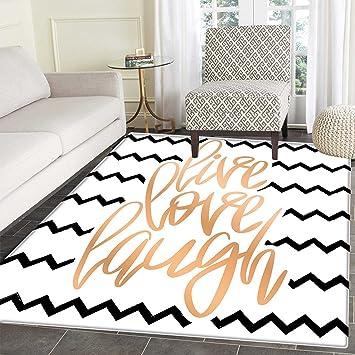 Amazon.com: Live Laugh Love Decor Floor Mat Pattern Motivational ...