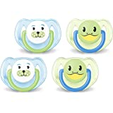 Avent Animal Soother Pacifier (6-18 Months), 4 Pack - Blue/Green